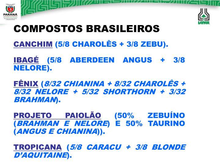 COMPOSTOS BRASILEIROS