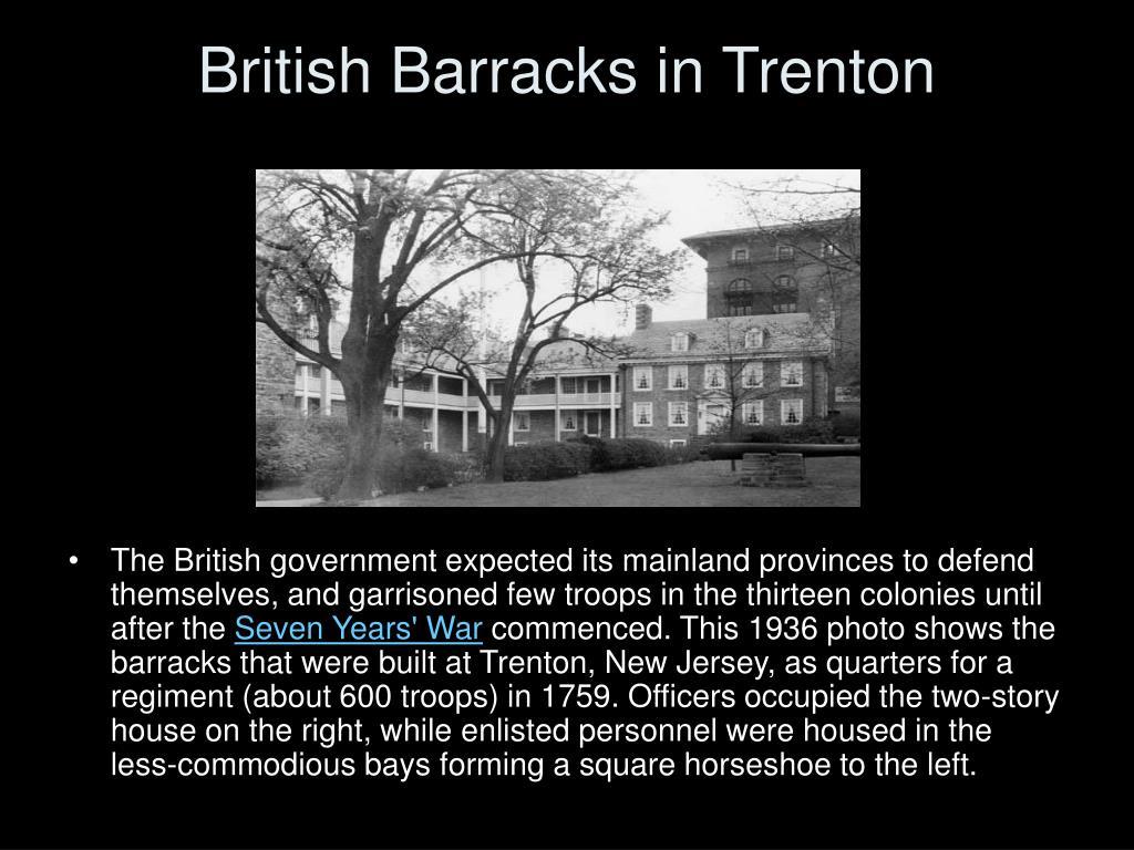 British Barracks in Trenton
