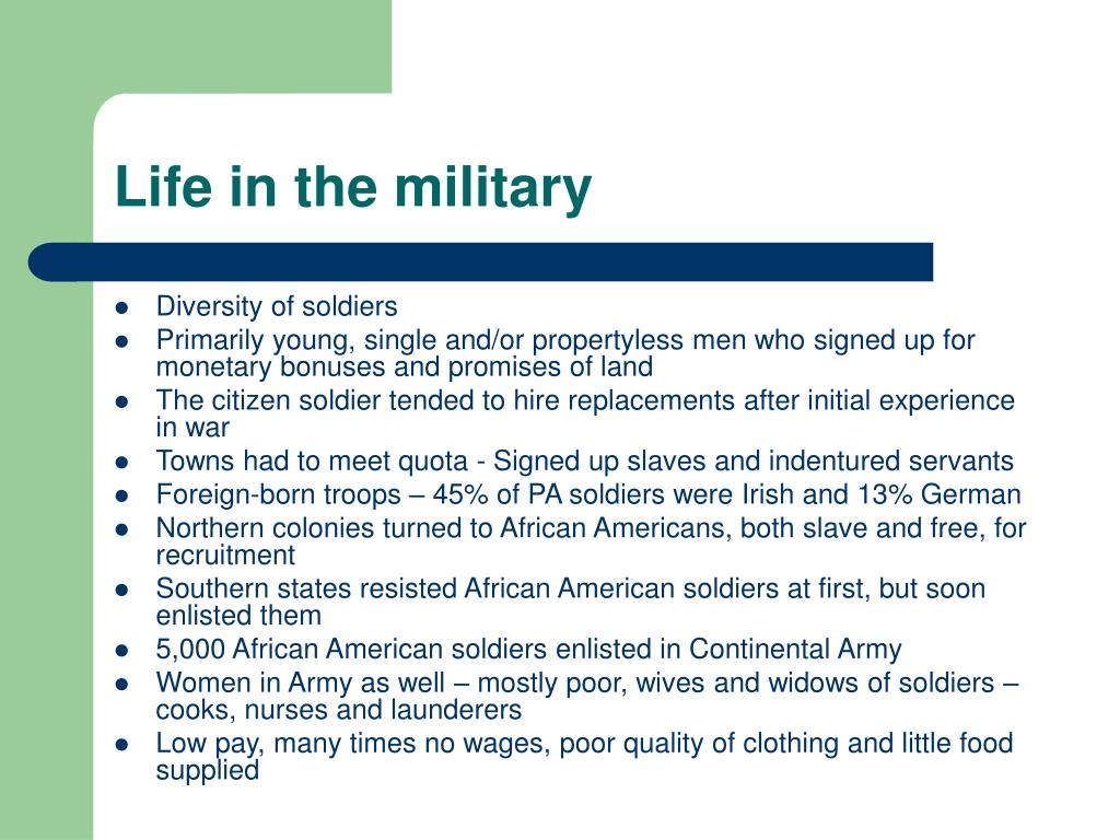 Life in the military
