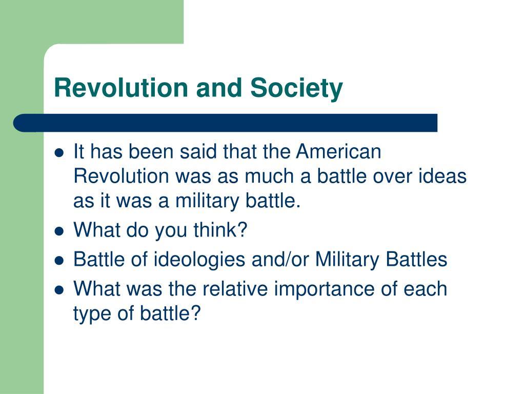 Revolution and Society