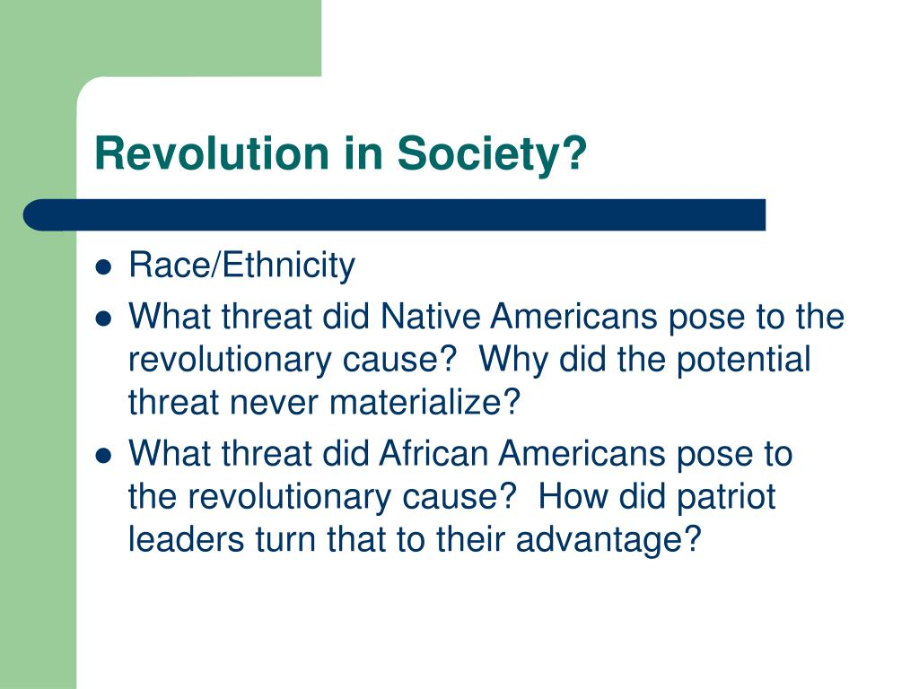 Revolution in Society?