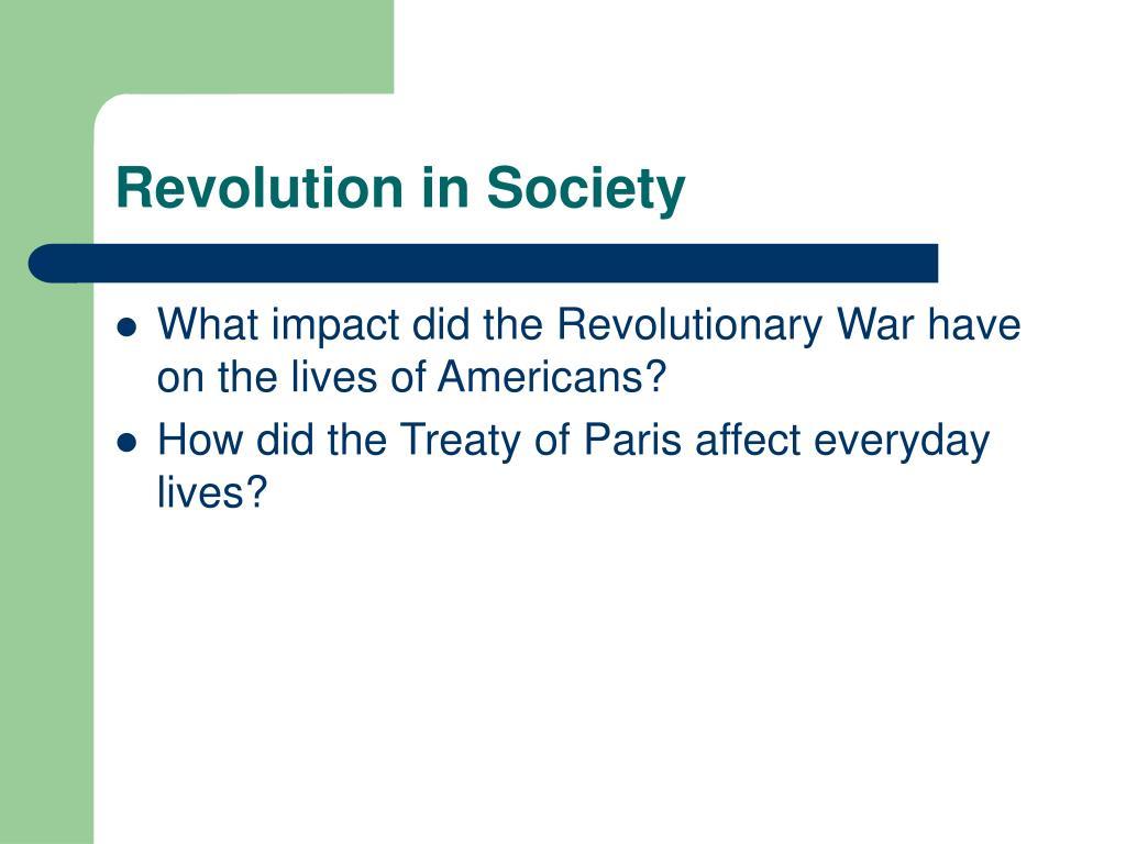Revolution in Society