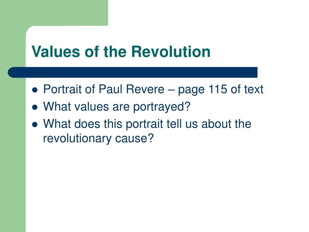 Values of the Revolution