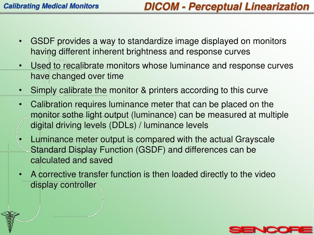 DICOM - Perceptual Linearization