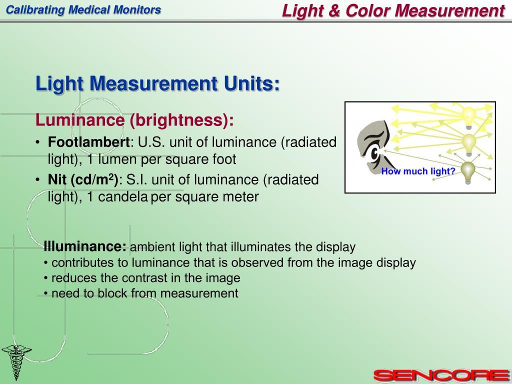 Light & Color Measurement
