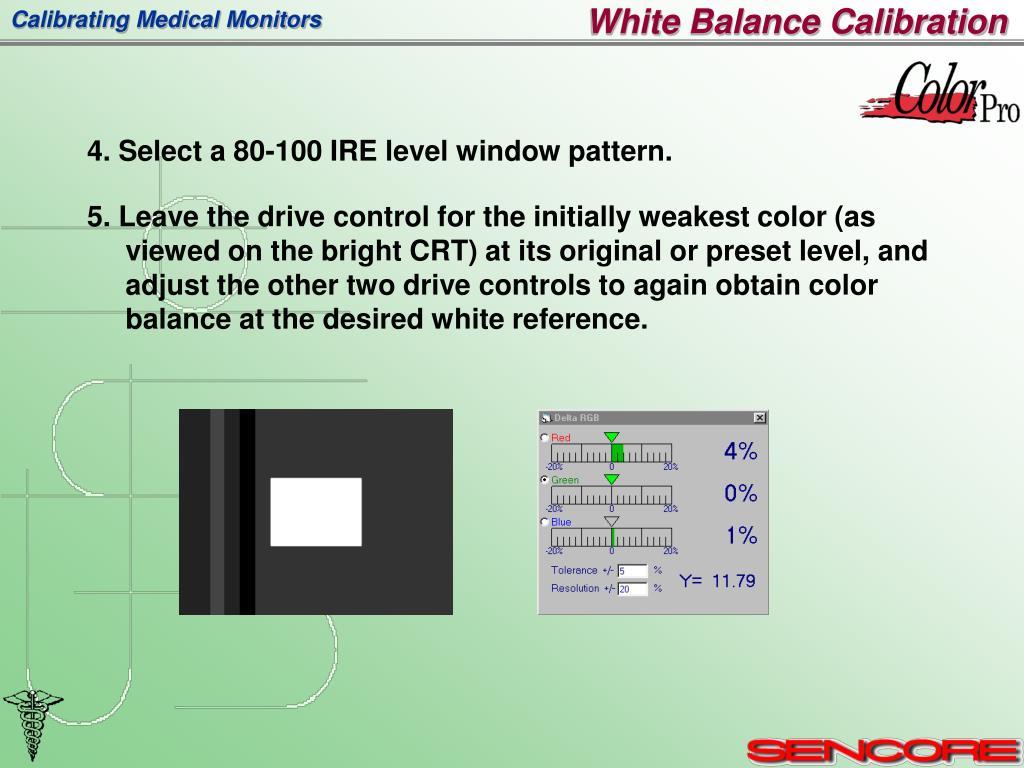 White Balance Calibration