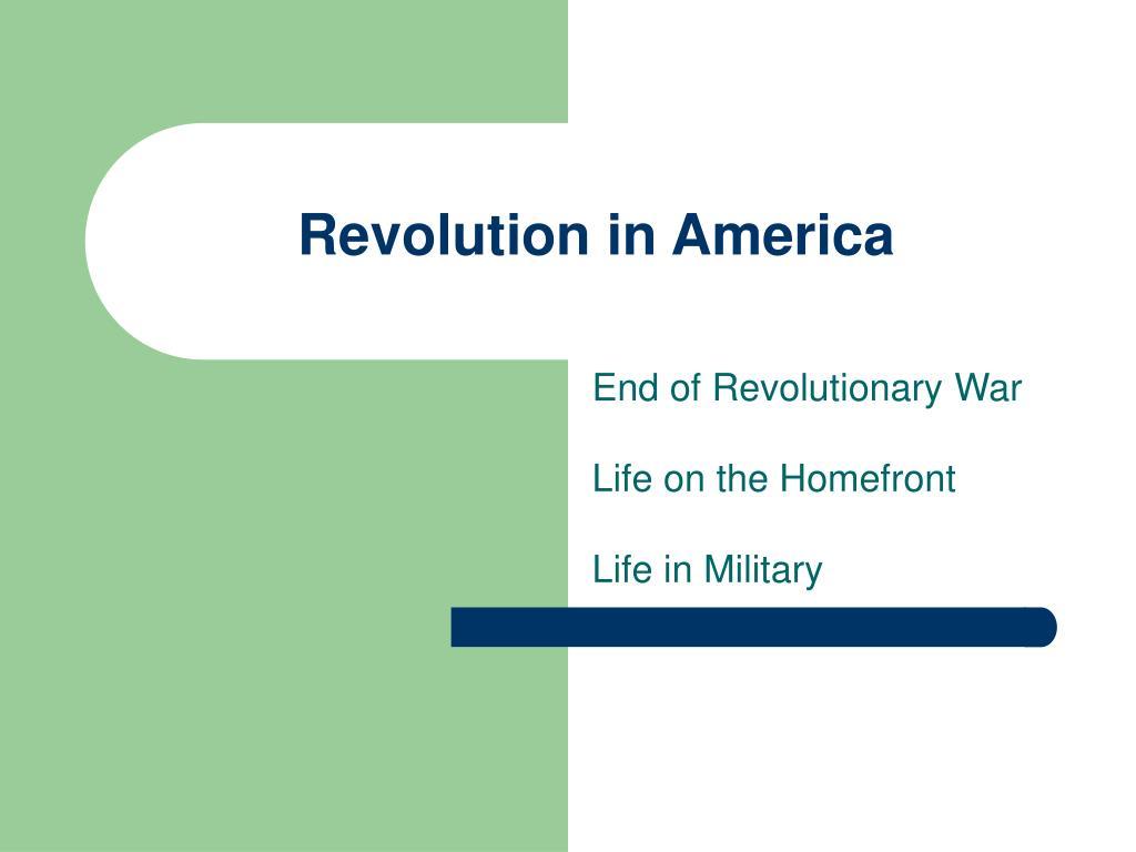 revolution in america
