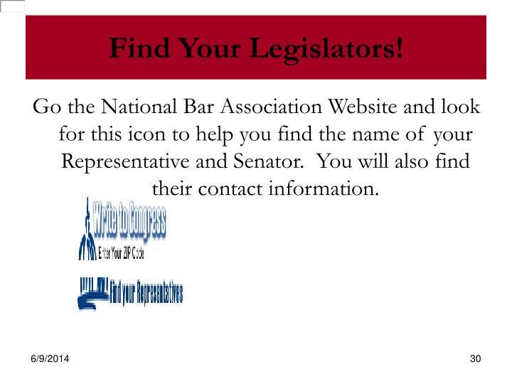 Find Your Legislators!