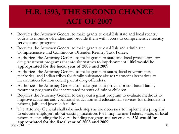 H.R. 1593, THE SECOND CHANCE