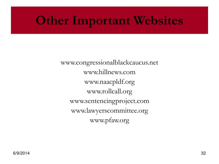 Other Important Websites
