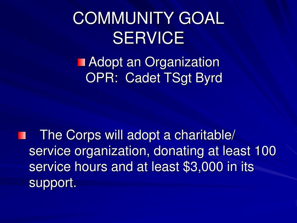 COMMUNITY GOAL