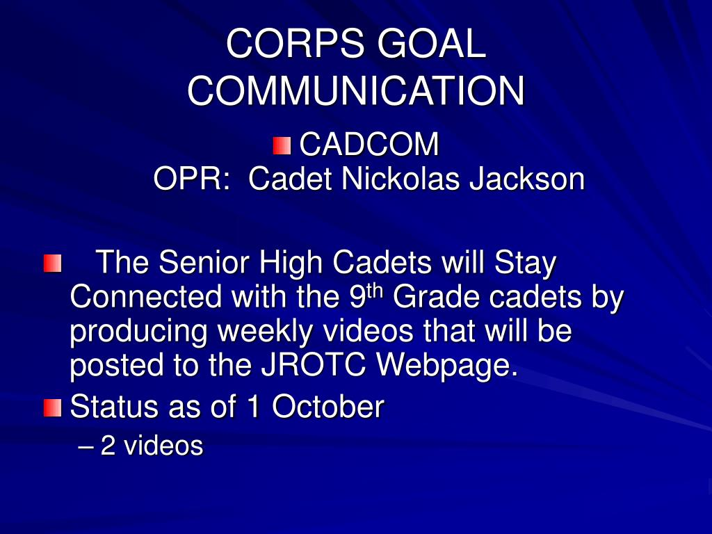 CORPS GOAL