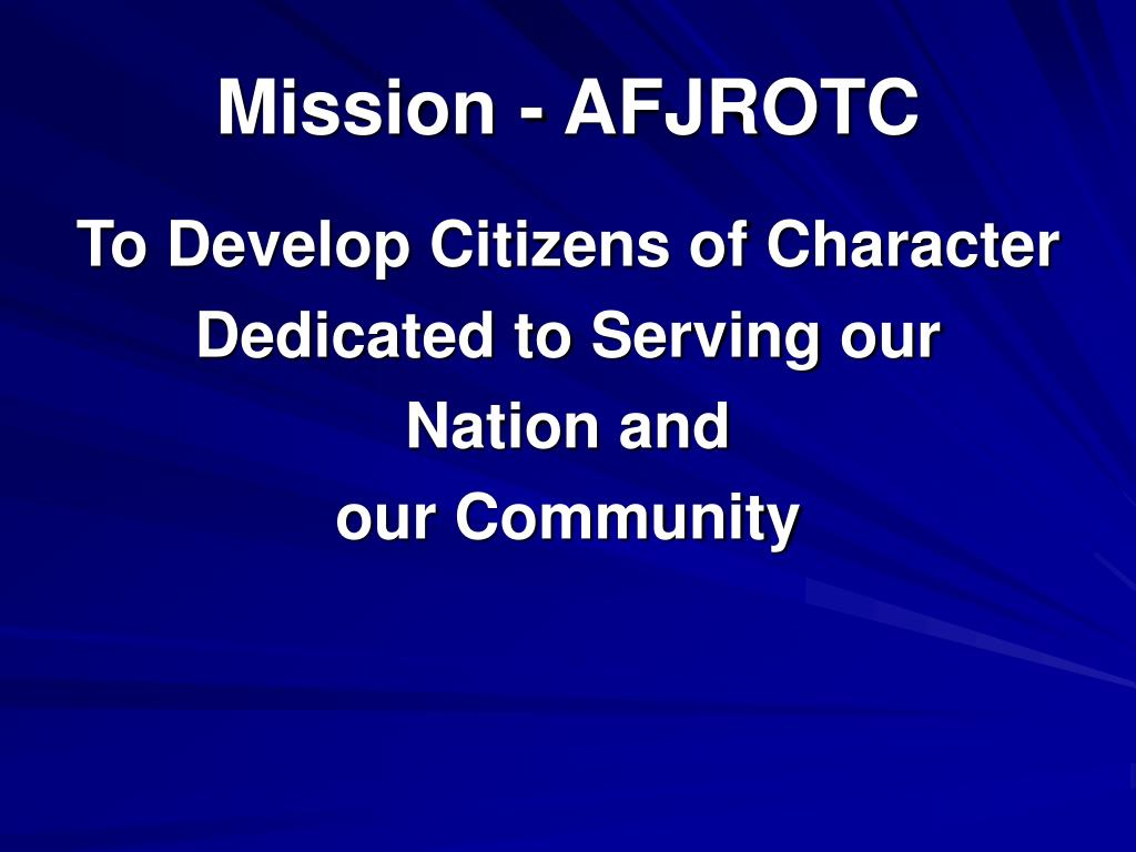 Mission - AFJROTC