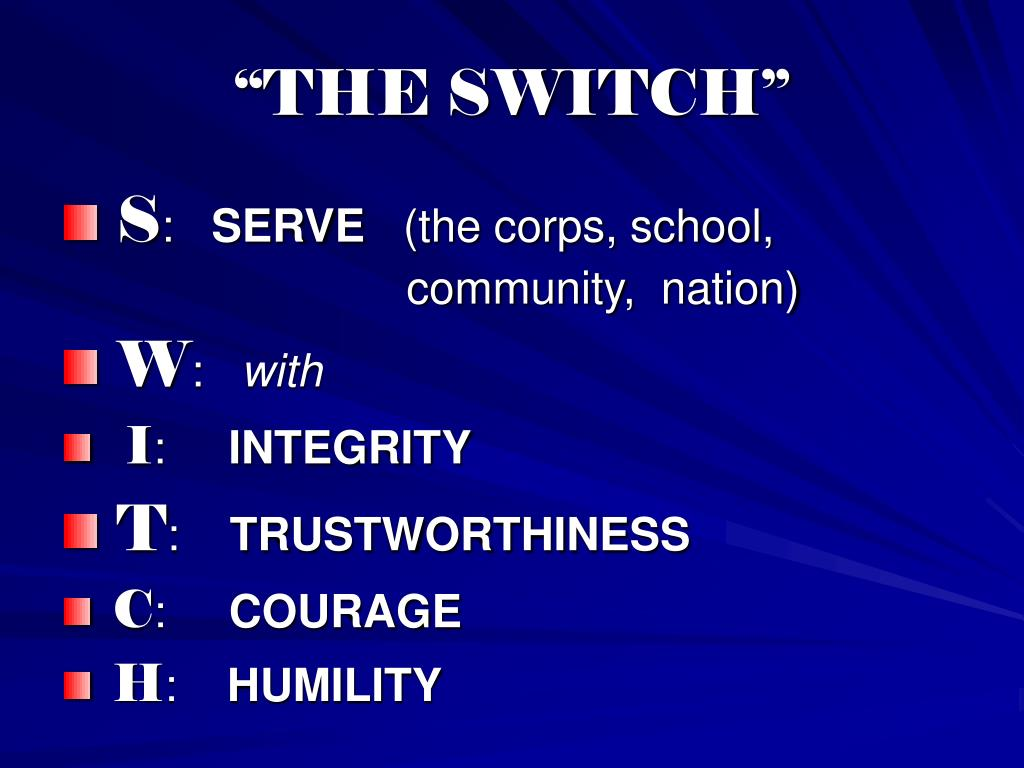 """THE SWITCH"""
