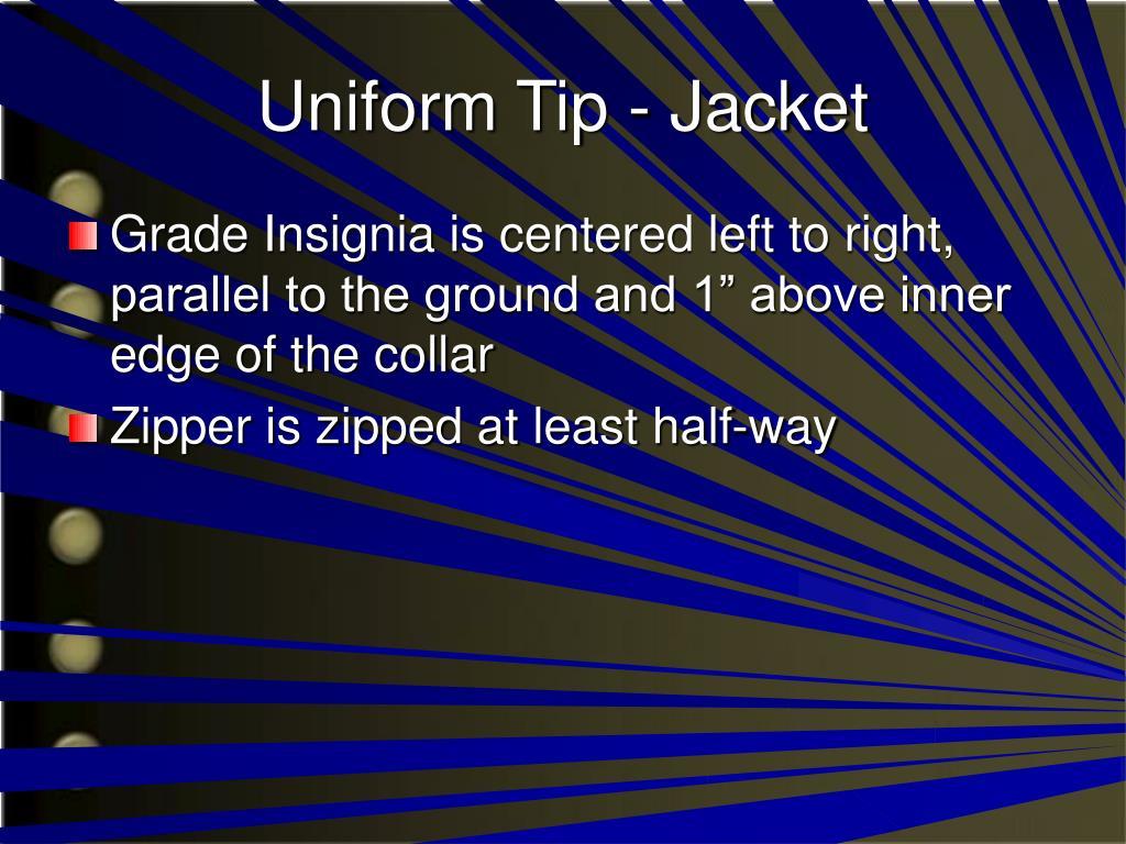 Uniform Tip - Jacket