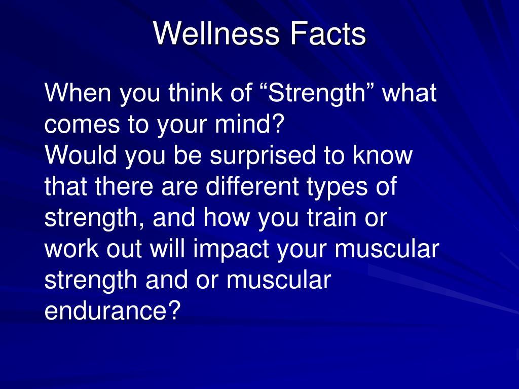 Wellness Facts