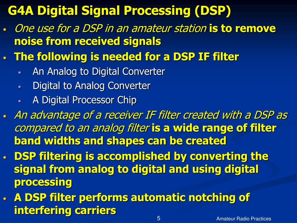 G4A Digital Signal Processing (DSP)