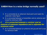 g4b04 how is a noise bridge normally used46