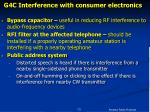 g4c interference with consumer electronics