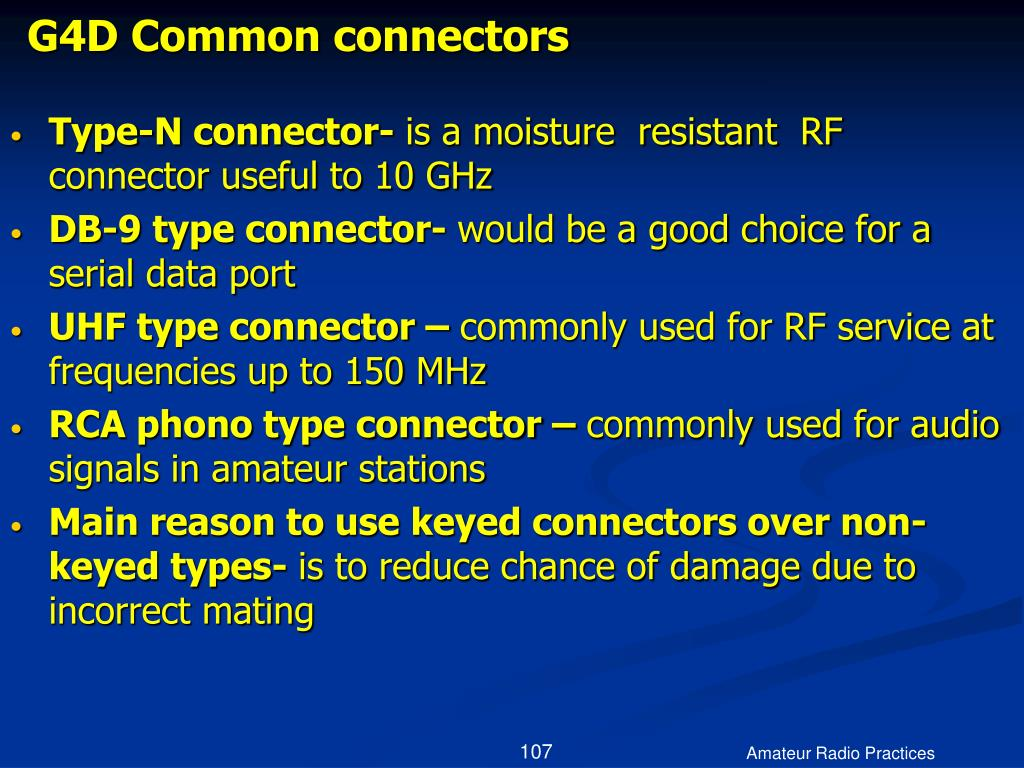 G4D Common connectors
