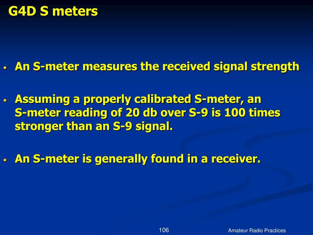 G4D S meters