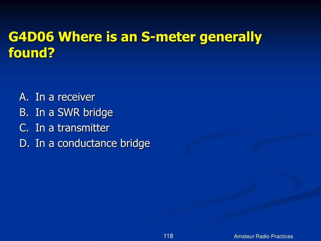 G4D06 Where is an S-meter generally found?