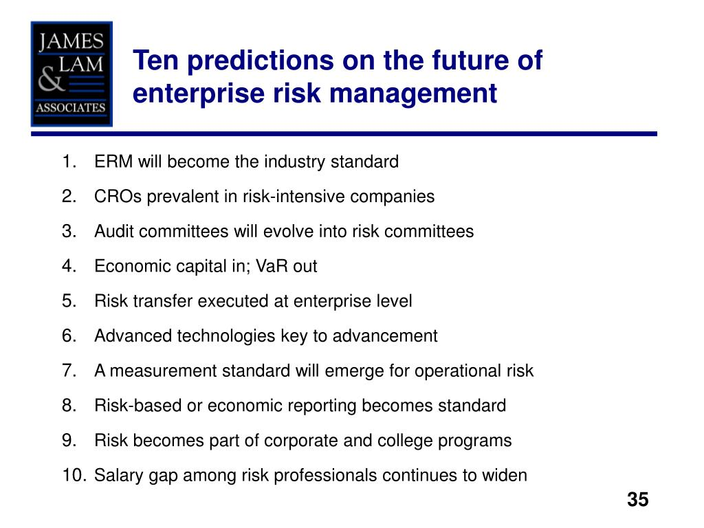 Ten predictions on the future of enterprise risk management