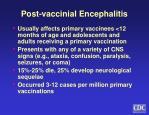 post vaccinial encephalitis