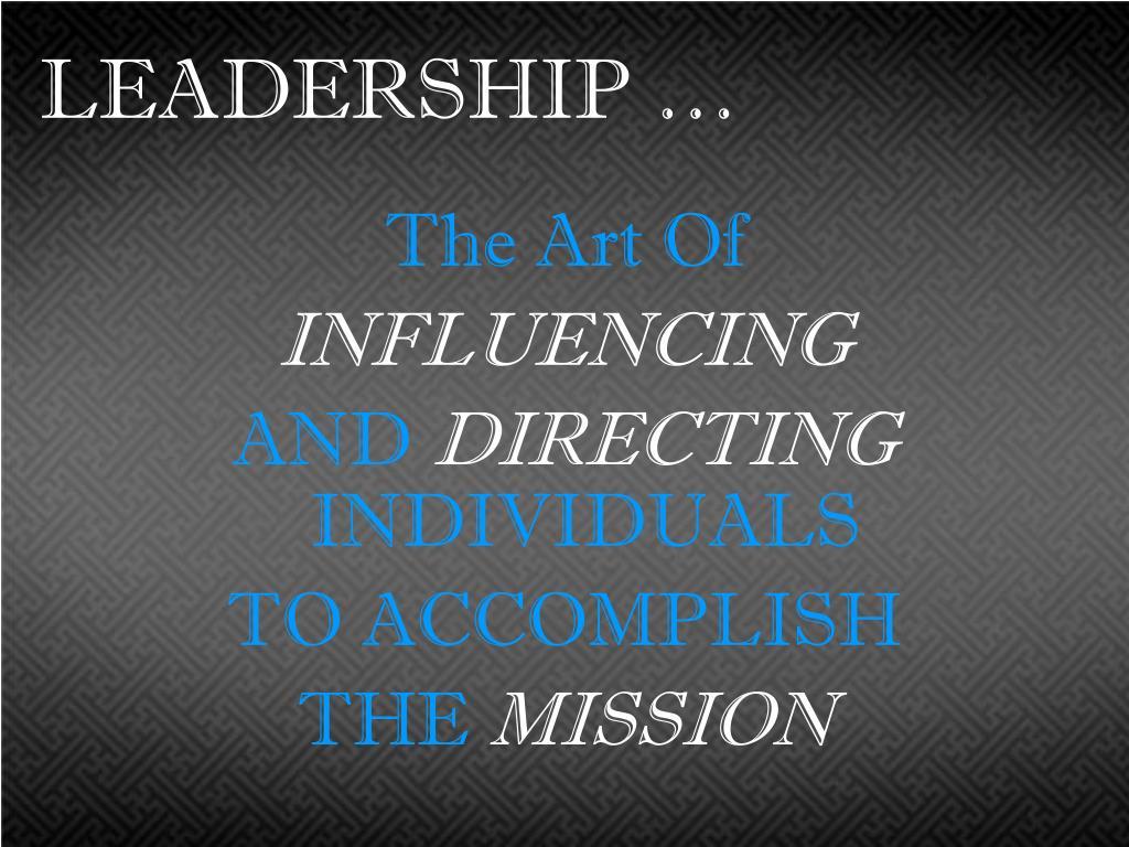 LEADERSHIP …
