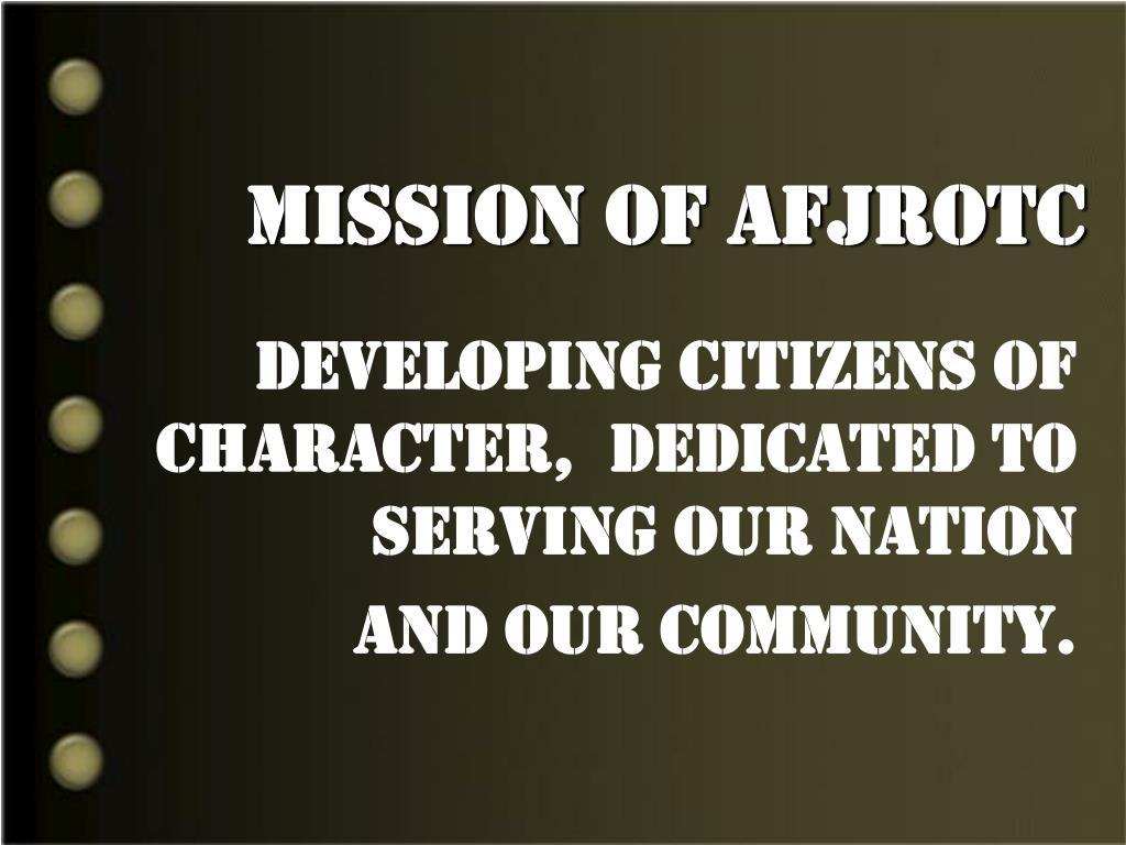 Mission of AFJROTC