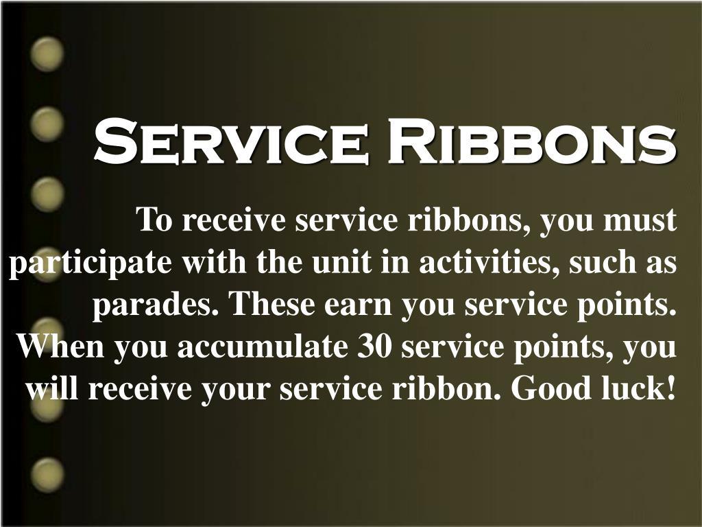 Service Ribbons
