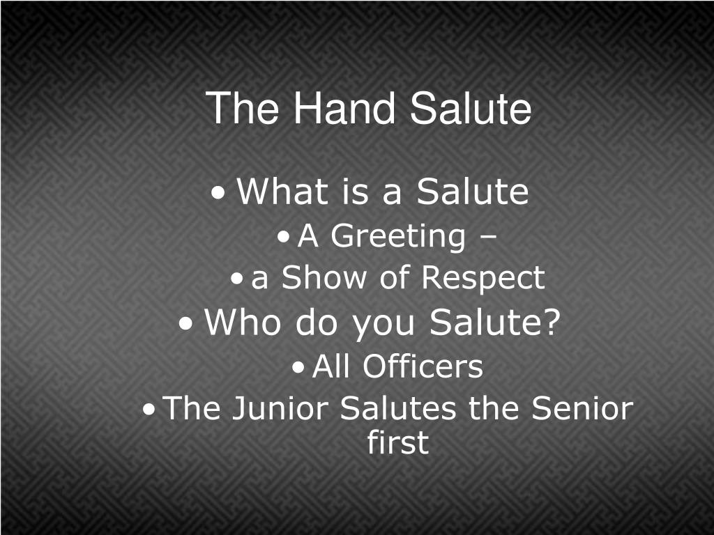 The Hand Salute