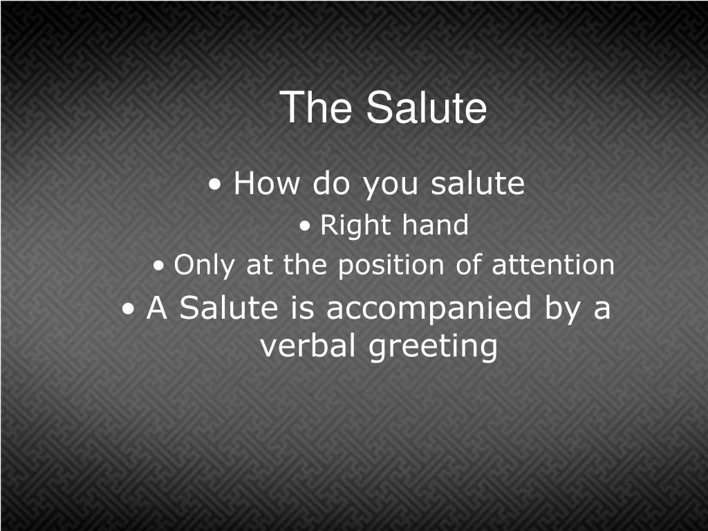 The Salute