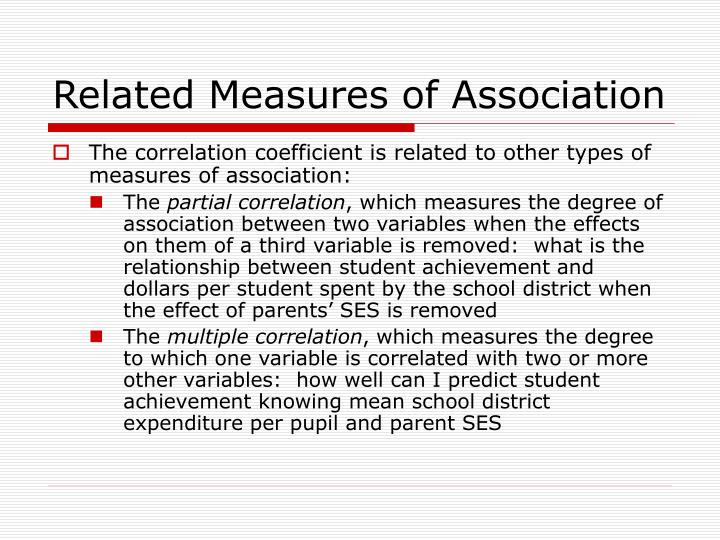 Related Measures of Association