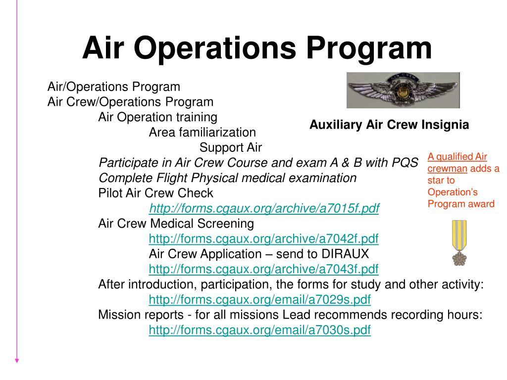 Air Operations Program