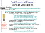 boat operational program surface operations