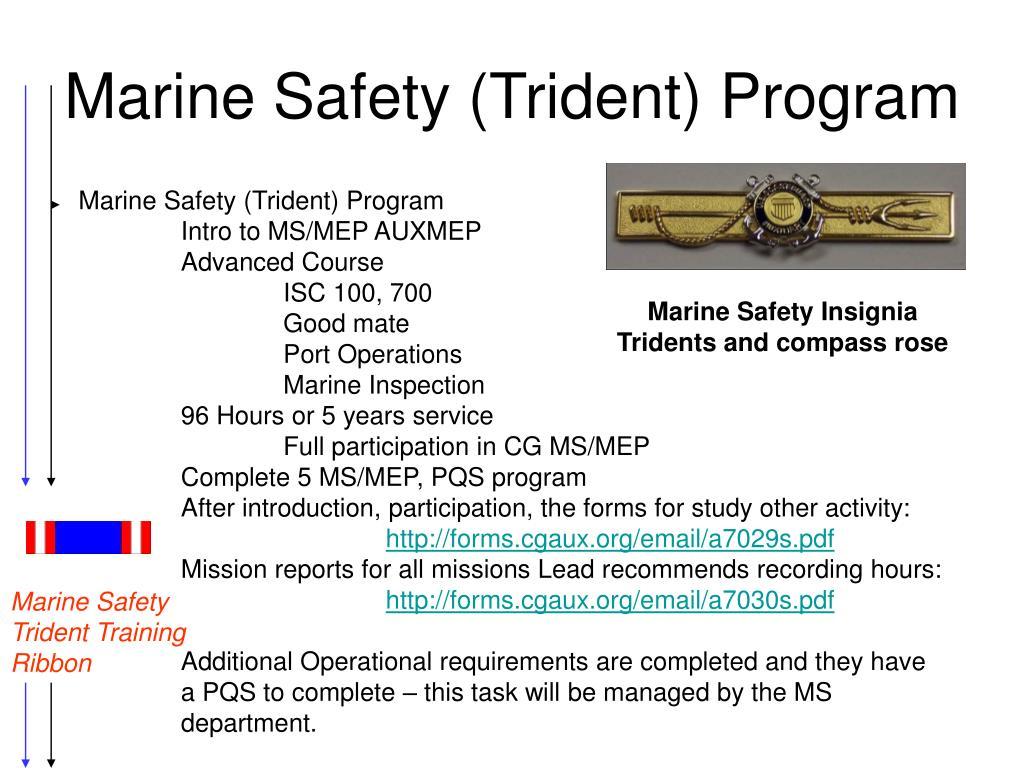 Marine Safety (Trident) Program