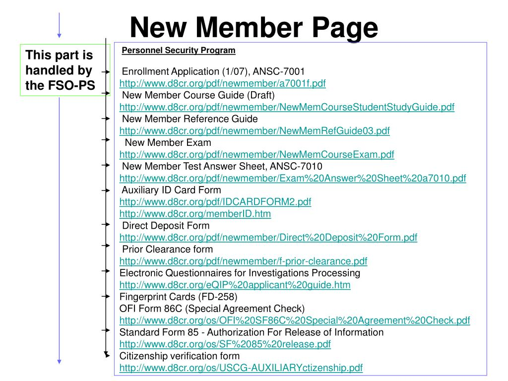 New Member Page