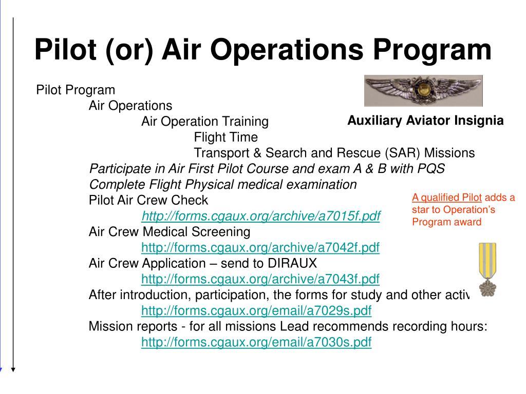 Pilot (or) Air Operations Program