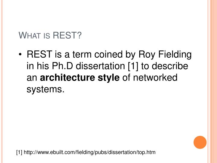What is REST?