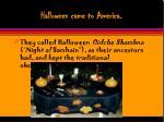 halloween came to america