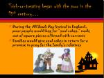trick or treating began with the poor in the 15 th century