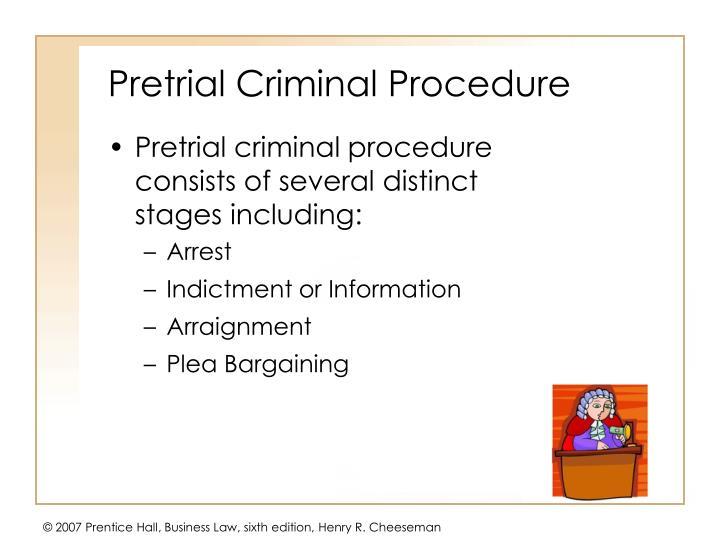 Pretrial Criminal Procedure