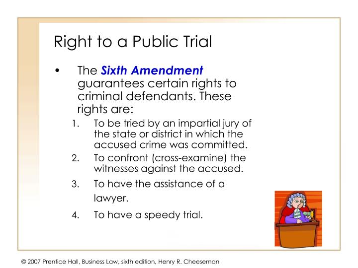 Right to a Public Trial