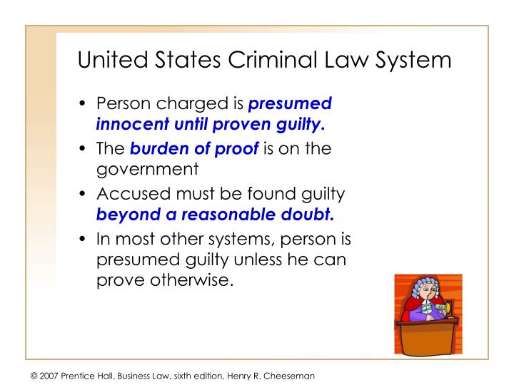 United states criminal law system