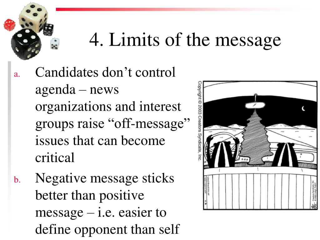 4. Limits of the message