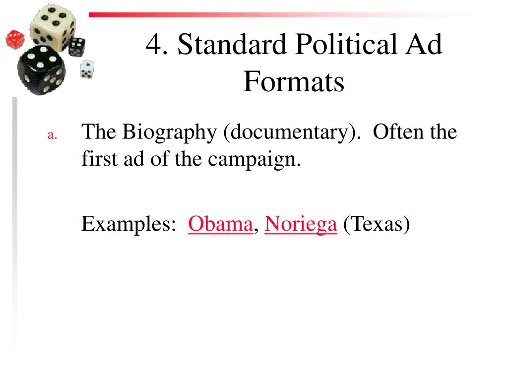 4. Standard Political Ad Formats