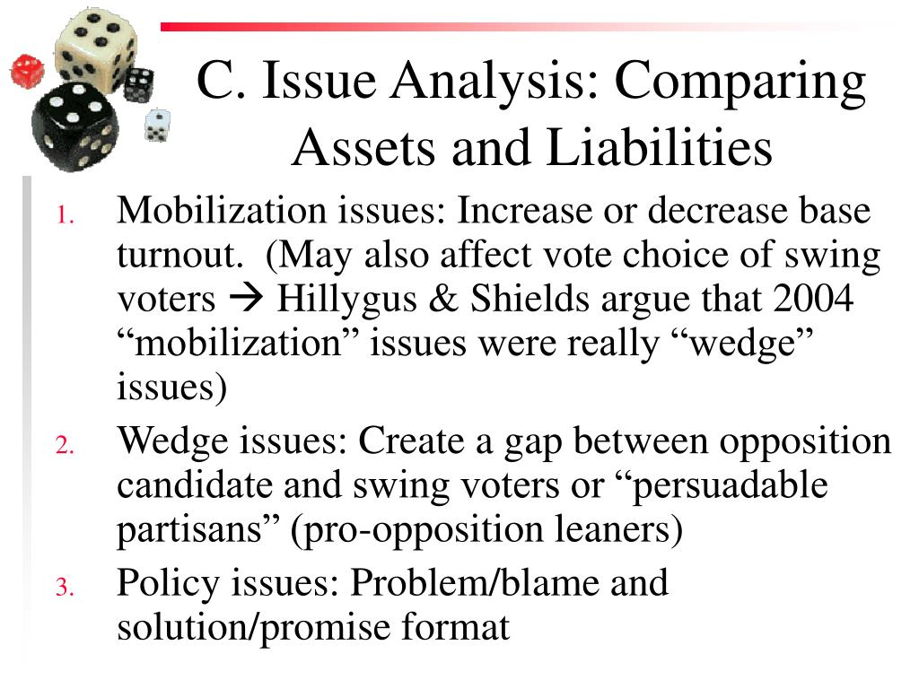 C. Issue Analysis: Comparing Assets and Liabilities