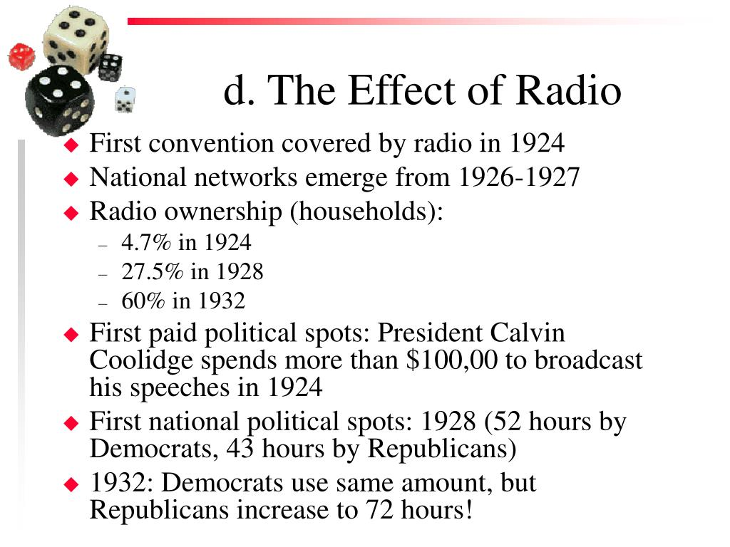 d. The Effect of Radio