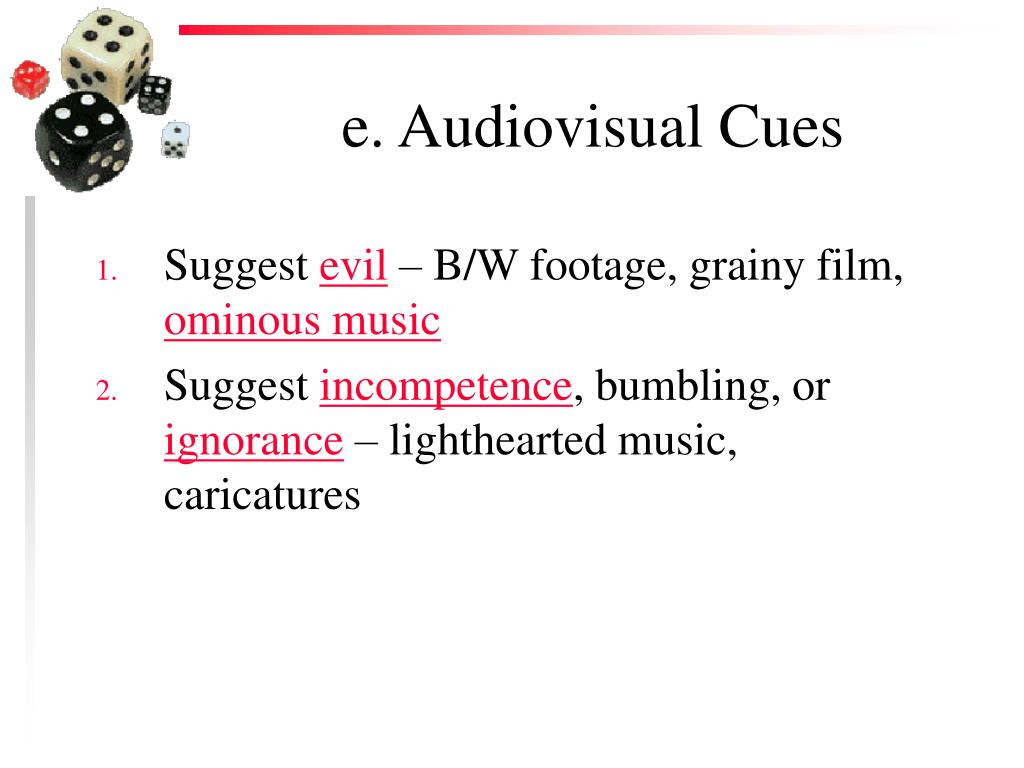 e. Audiovisual Cues